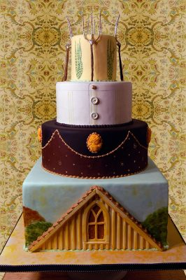 American Gothic Themed Wedding Cake