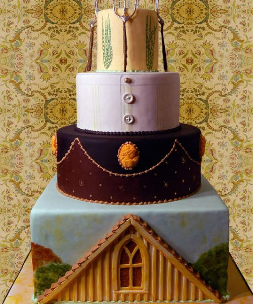 American Gothic Themed Wedding Cake