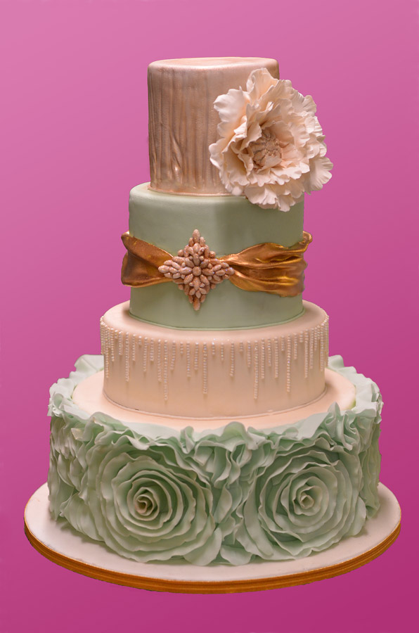 Ruffle & Bling Wedding Cake – HUASCAR & CO. BAKESHOP