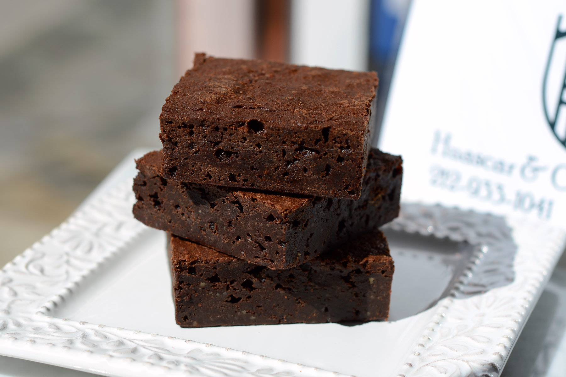 Huascar and Company Bakeshop Spicy Toffee Brownie