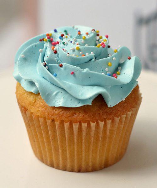 Huascar & Co Bakeshop V2 Cupcake with Blue Frosting