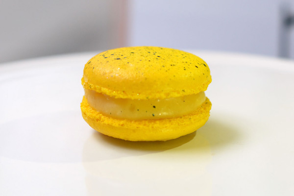 Huascar and Company Passion Fruit-Ginger French Macaron
