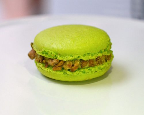 Huascar and Company Bakeshop Gluten-Free Pistachio-Raspberry French Macaron