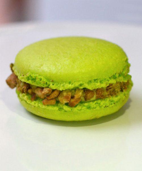 Huascar and Company Bakeshop Pistachio-Raspberry French Macaron