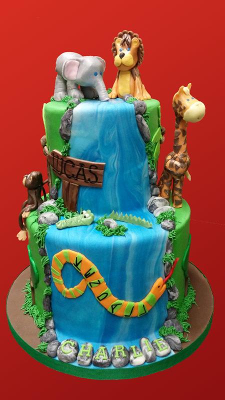 Jungle Theme Birthday Cake Huascar Co Bakeshop
