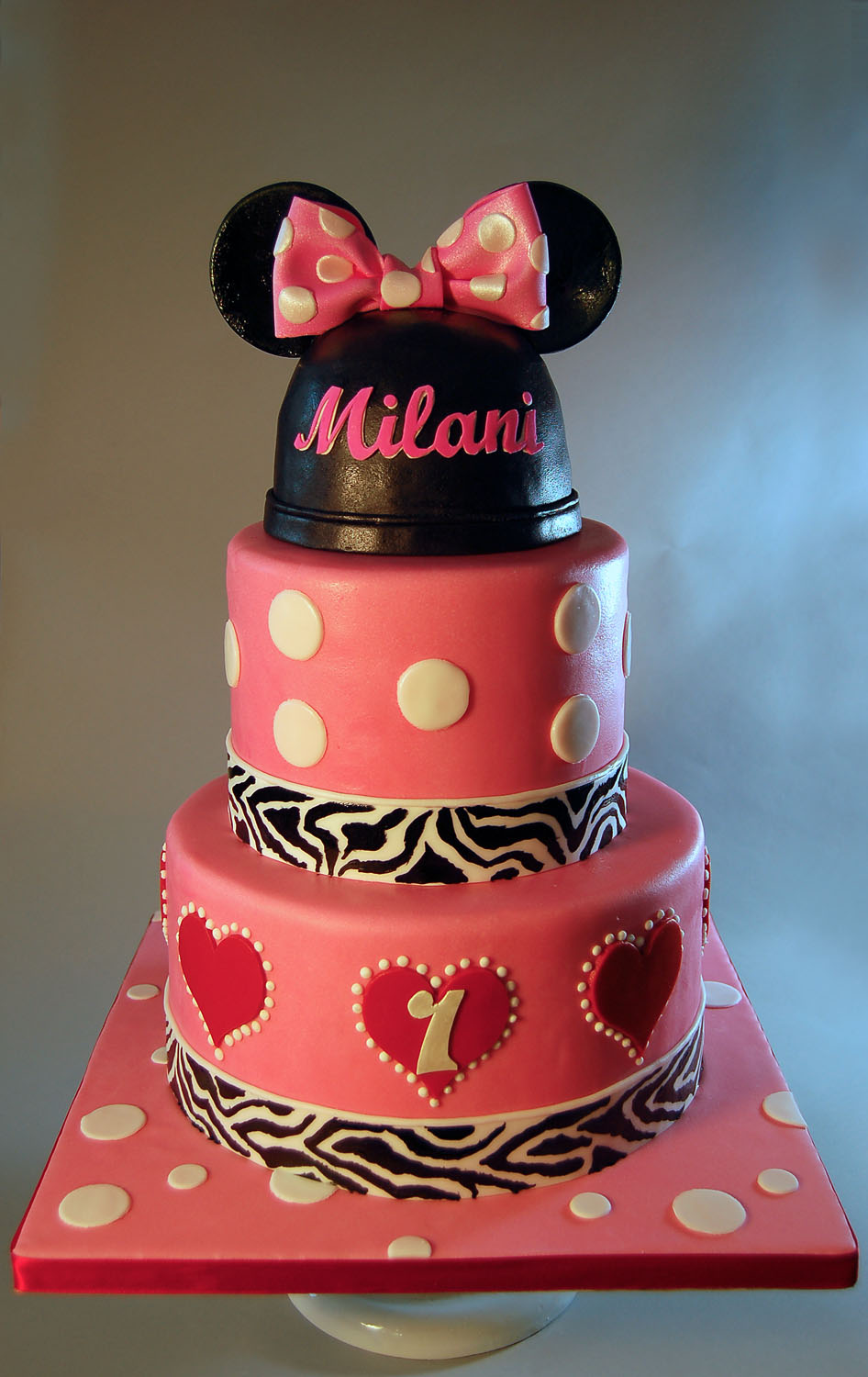 The blue cake company wedding cakes birthday cakes 2016 car release - Minnie Mouse Birthday Cake