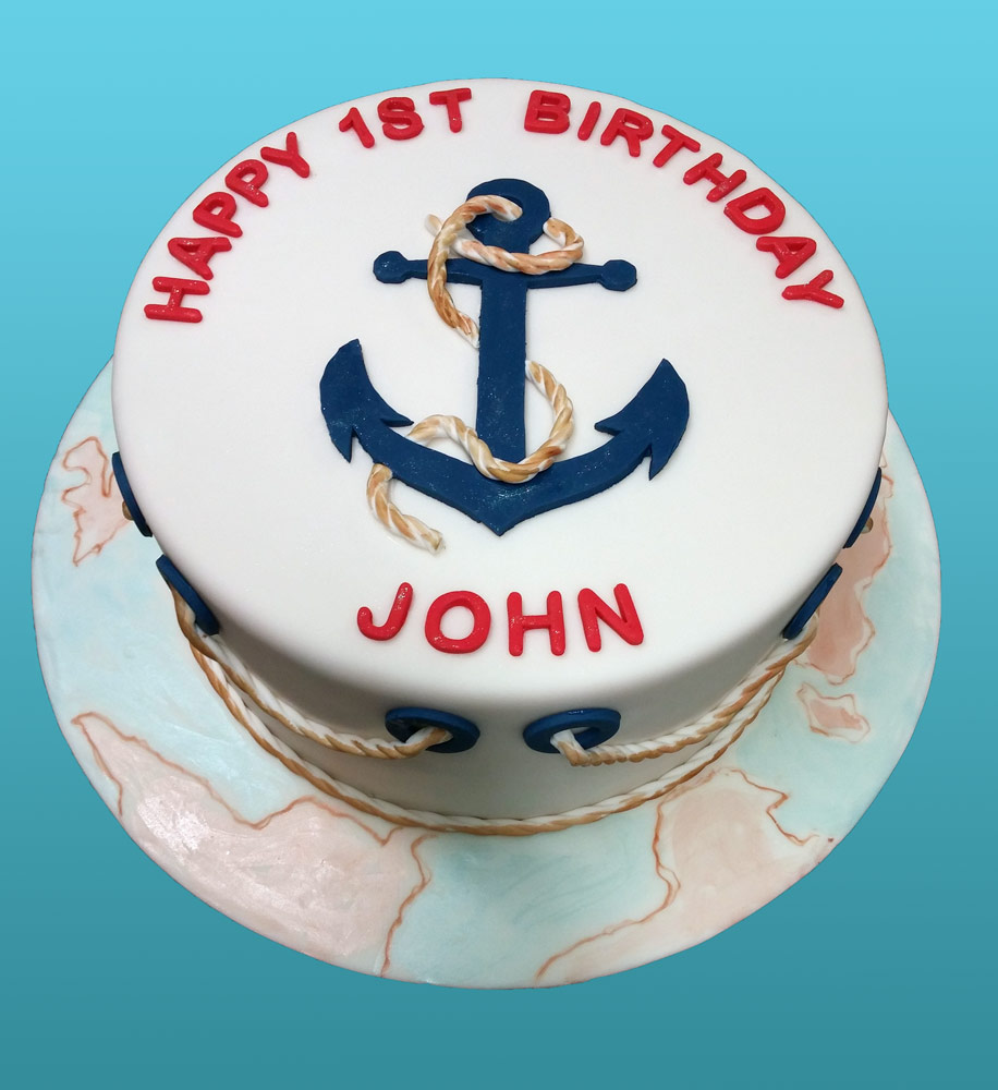 Nautical Theme Birthday Cake Huascar Co Bakeshop