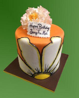 Large Petal Birthday Cake