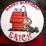 Peanuts Character Birthday Cake