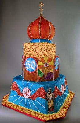 Anniversary Cake for Retiring Clergy