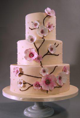 Cherry Blossoms Wedding Cake