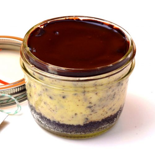 Huascar and Company Milk and Cookies Mason Jar Cheesecake