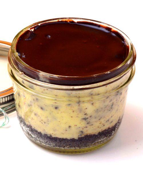 Huascar and Company Milk and Cookies Mason Jar Cheesecake