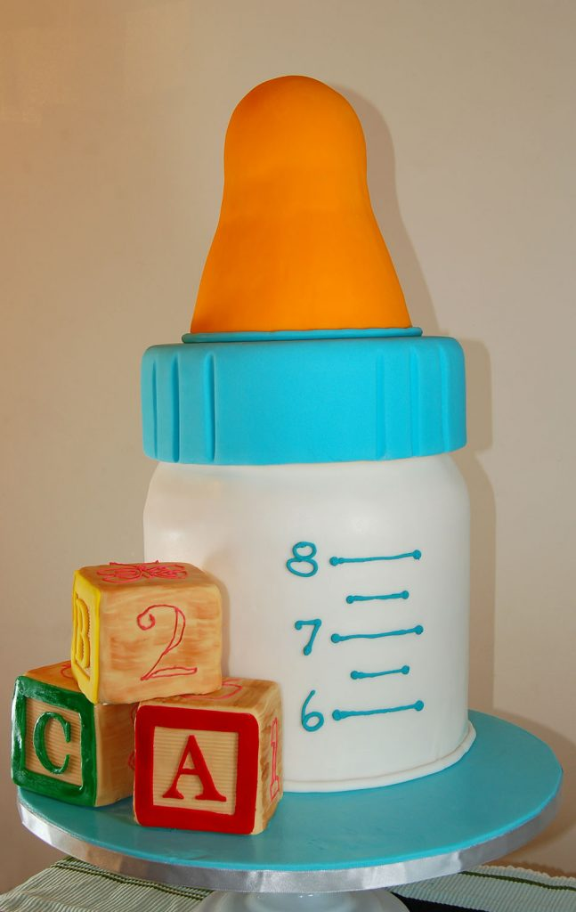 Huascar and Company Baby Bottle Baby Shower Cake