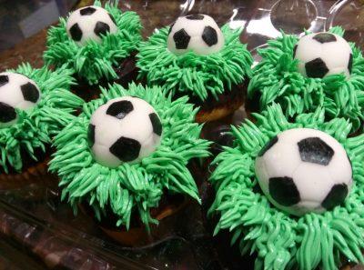 Huascar and Company Bakeshop Custom Birthday Cupcakes for Soccer Fan
