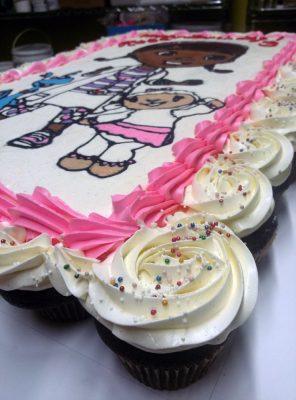 Huascar and Company Bakeshop Doc McStuffins Theme Pull Apart Birthday Cake (Cupcakes)