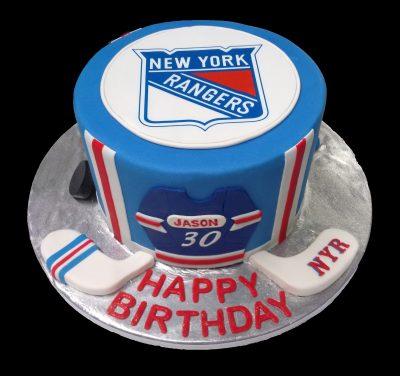 Huascar and Company BakeshopNew York Rangers Fan Birthday Cake