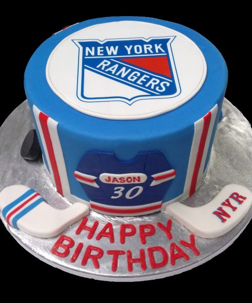 Huascar and Company BakeshopNew York Rangers Fan Birthday Cake
