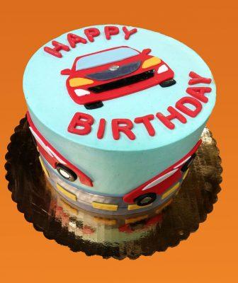 Huascar and Company Bakeshop Race Cars Birthday Cake