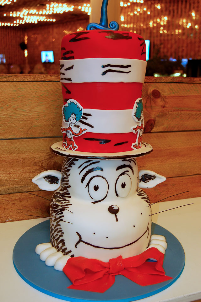 Cat in the Hat Birthday Cake HUASCAR CO BAKESHOP