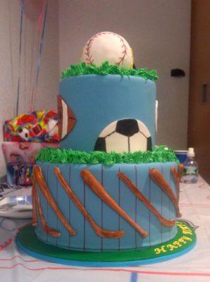 Huascar and Company Bakeshop Multiple Sport Birthday Cake