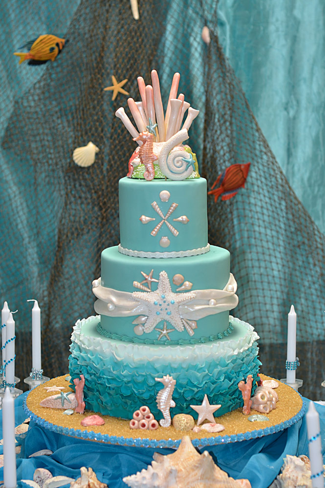 Sea Theme Sweet 16 Cake HUASCAR CO BAKESHOP
