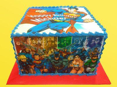 Huascar and Company Bakeshop Superheroes Birthday Cake