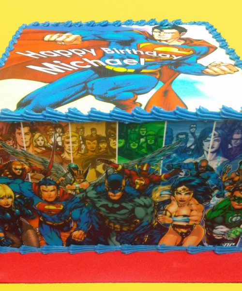 Huascar and Company Bakeshop Superheroes Birthday Cake