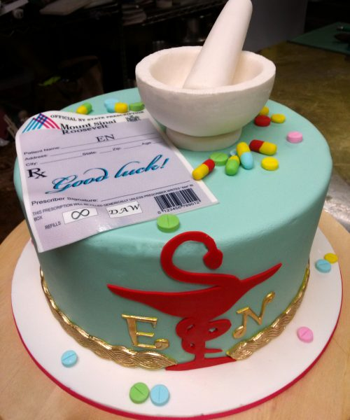 Huascar and Company Bakeshop Pharmacist Retirement Cake