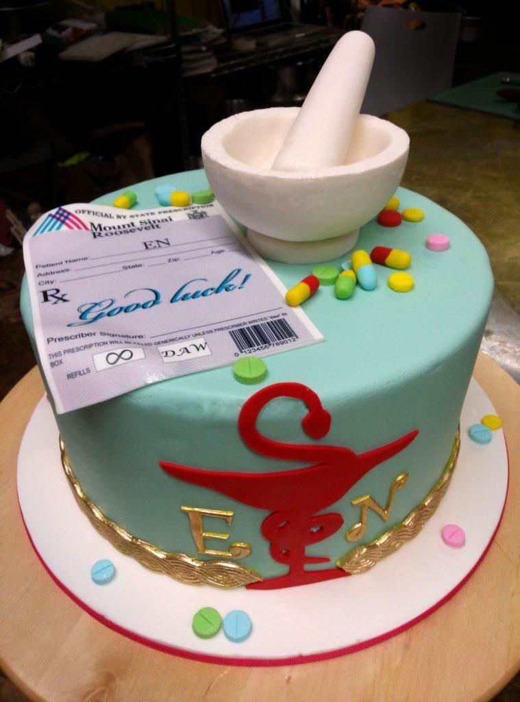 Huascar and Company Bakeshop Pharmacist Retirement Cake