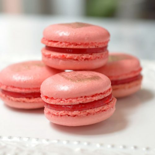 Huascar and Company Bakeshop Strawberry Champagne French Macaron