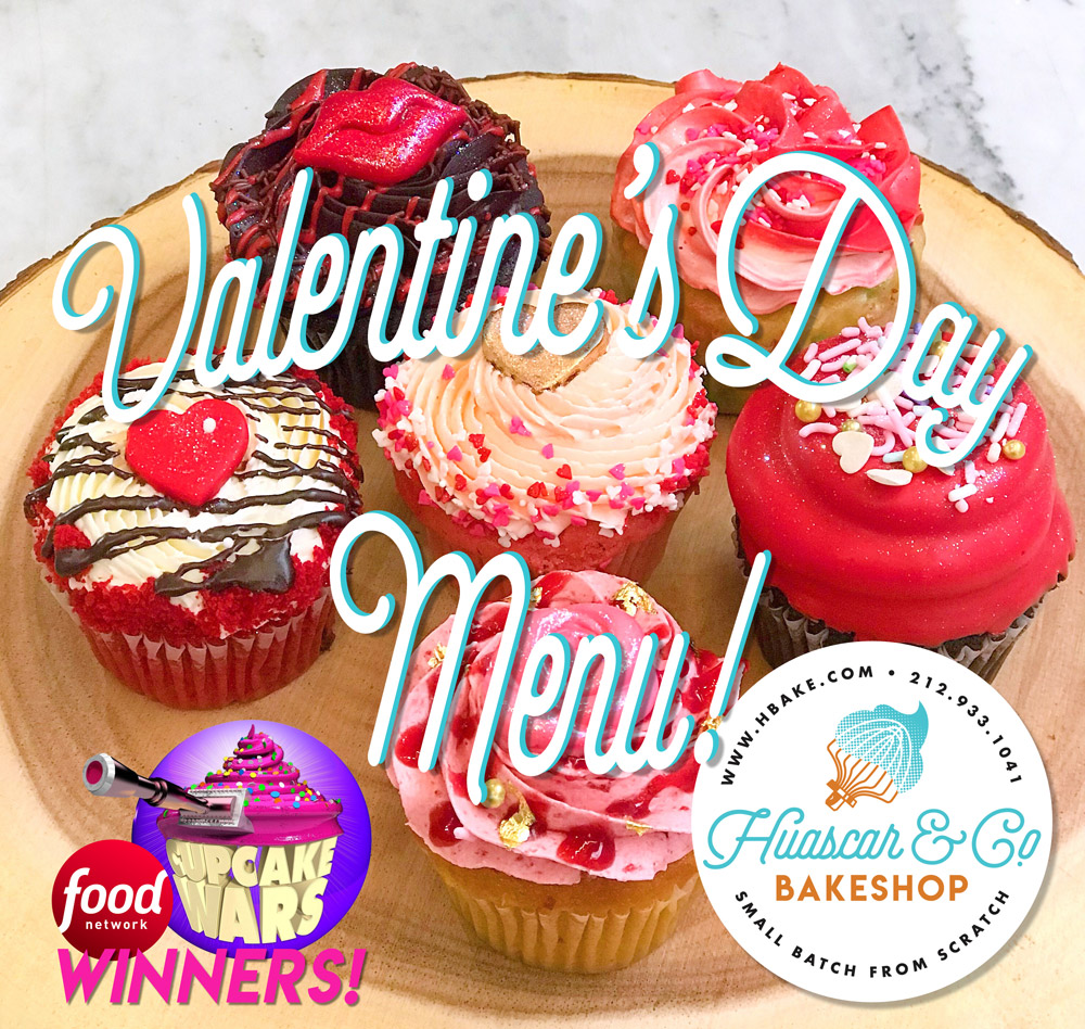 Huascar and Company Bakeshop Valentine Day Menu Feature Image of Cupcakes