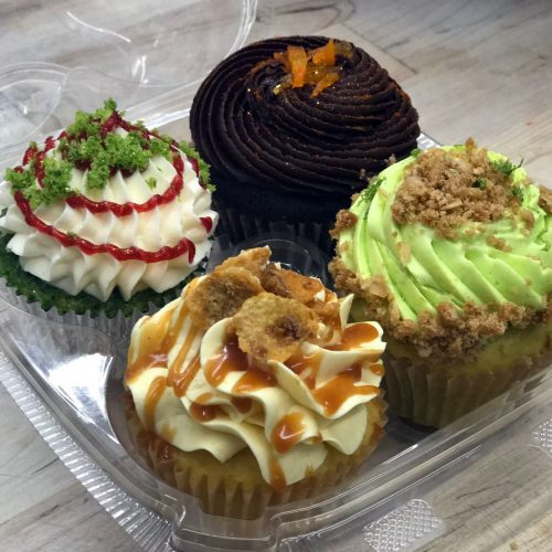 Huascar and Company Bakeshop 4-Cupcake Box