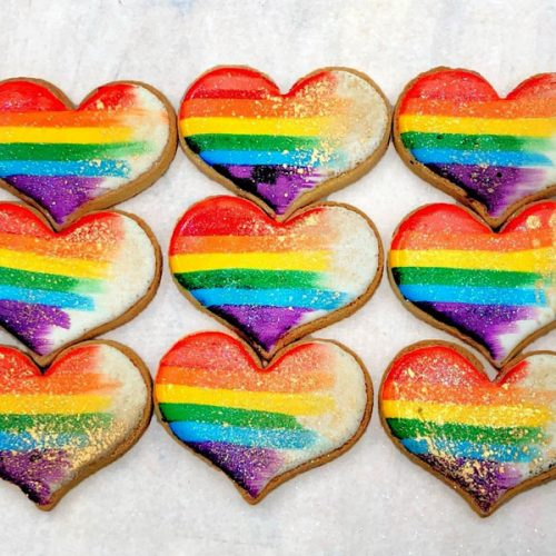 Huascar & Company Bakeshop Pride 2019 Rainbow Heart Cookies