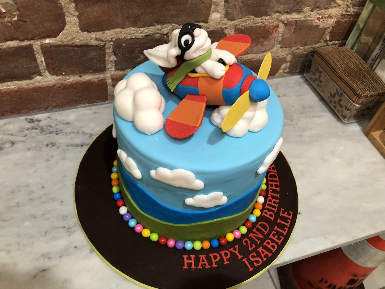 Huascar & Company Bakeshop Sugarpaste Bunny Plane Cake