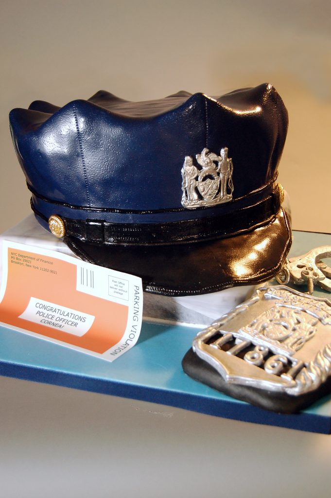 Huascar & Company Bakeshop Sculpted Police Hat & Badge Cake