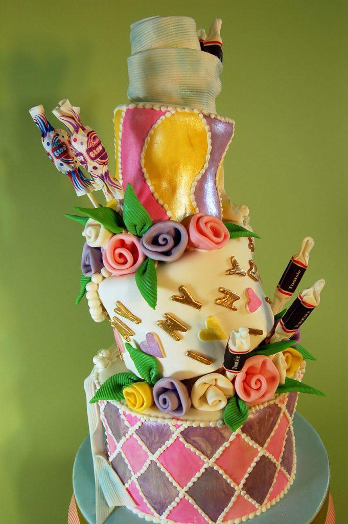 Huascar & Company Bakeshop Topsy Turvy Candy Cake