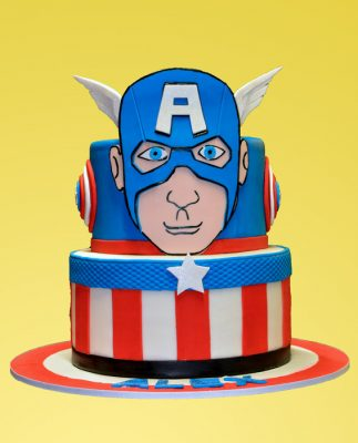 Huascar & Company Bakeshop Captain America Cake