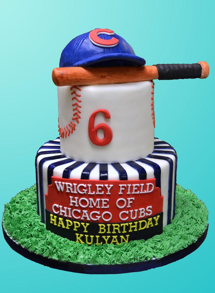 Superb Chicago Cubs Wrigley Field Cake Huascar Co Funny Birthday Cards Online Ioscodamsfinfo