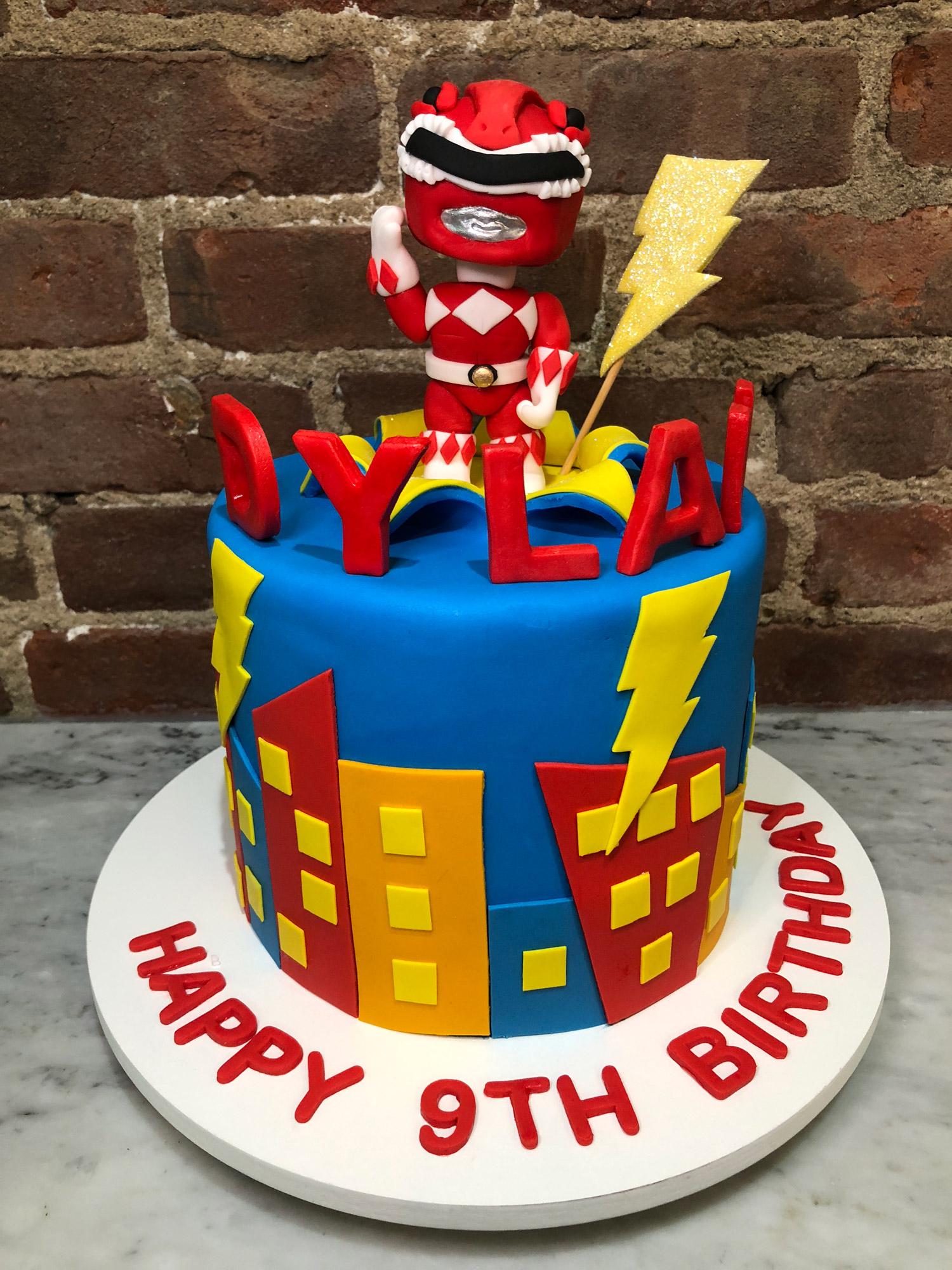 Astonishing Sugarpaste Power Ranger Cake Huascar Co Funny Birthday Cards Online Barepcheapnameinfo