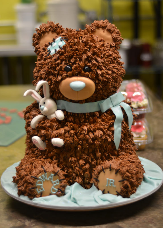 Huascar & Company Bakeshop Teddy Bear Sculpted Cake