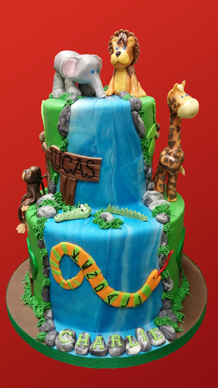 Huascar & Company Bakeshop Jungle Theme Cake