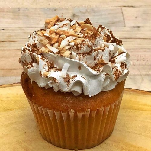 Huascar & Company Bakeshop Tres Leches Coquito Holiday Cupcake