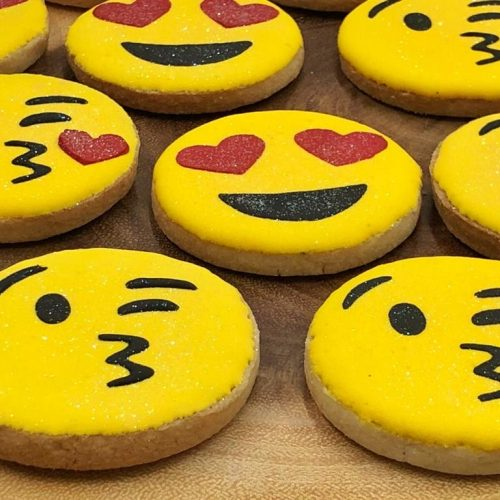Huascar and Company Bakeshop Valentine's Day Emoji Sugar Cookie