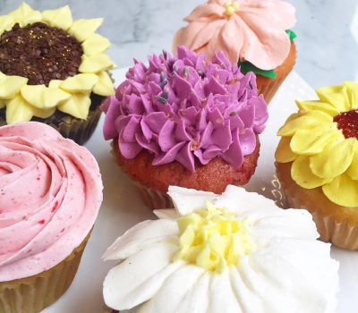 Huascar and Co Bakeshop Mothers Day Garden Cupcakes