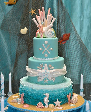 Huascar and Company Sea Theme Sweet 16 Birthday Cake